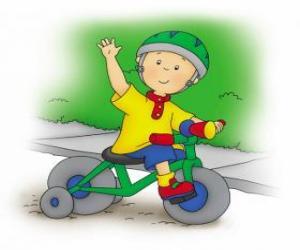 puzzel Caillou, een fiets