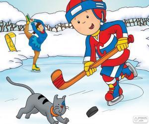 puzzel Caillou en Gilbert, hockey