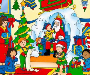 puzzel Caillou Kerstmis