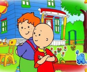 puzzel Caillou met zijn vriend Leo