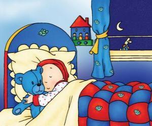 puzzel Caillou slapen