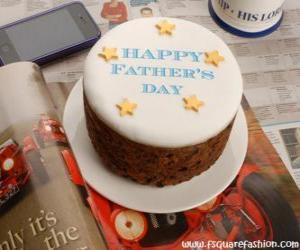 puzzel Cake van de dag van de vader met sterren