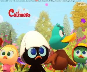 puzzel Calimero met vrienden