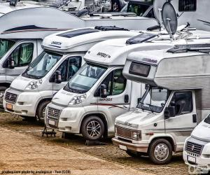 puzzel Campers of motorhomes