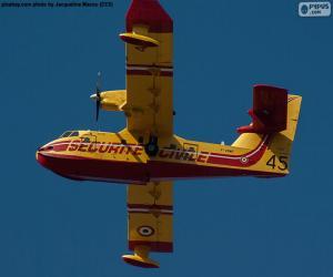 puzzel Canadair CL-215, watervliegtuig