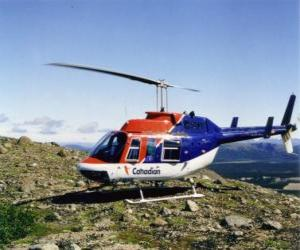 puzzel Canadese Bell 206 helikopter