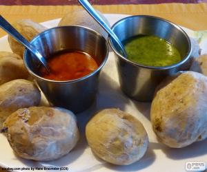 puzzel Canarische rimpelige aardappelen