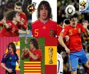 puzzel Carles Puyol (het hoofd van Spanje) Spaanse team de verdediging