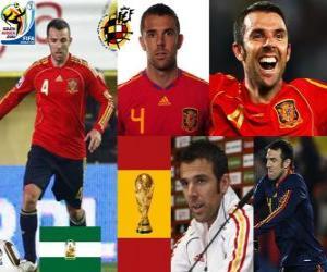 puzzel Carlos Marchena (de onoverwinnelijke) Spaanse team de verdediging