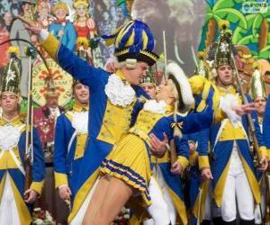 puzzel Carnaval van Keulen, Duitsland