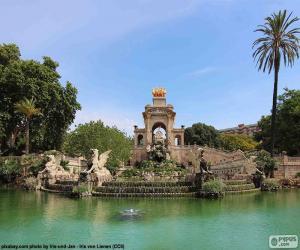 puzzel Cascade van het Parc de la Ciutadella, Barcelona