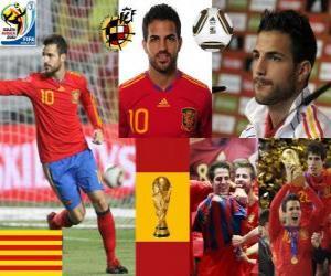 puzzel Cesc Fàbregas (Barcelona is de toekomst van) Spaanse nationale elftal Middenvelder