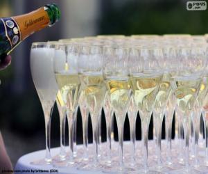 puzzel champagne glazen