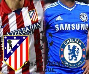 puzzel Champions League - UEFA Champions League halve finale 2013-14, Atlético - Chelsea