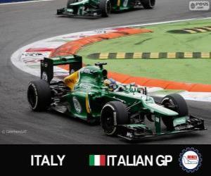 puzzel Charles Pic - Caterham - Monza, 2013