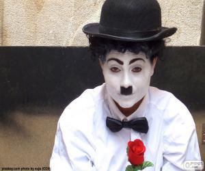 puzzel Charlie Chaplin imitator