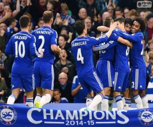 puzzel Chelsea FC kampioen 2014-15
