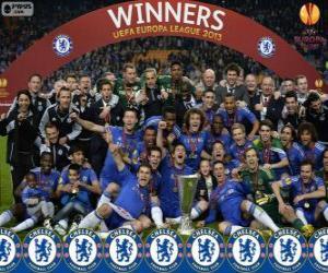 puzzel Chelsea FC, kampioen UEFA Europa League 2012-2013