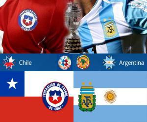puzzel CHI - ARG, Finale Copa America 2015