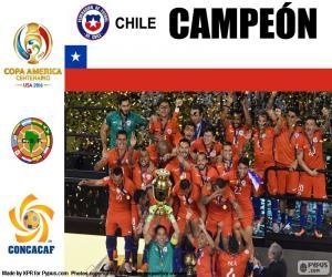 puzzel Chili, kampioen Copa America 2016