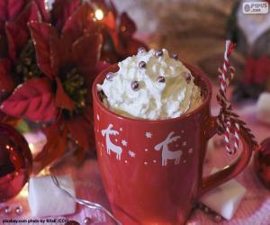 puzzel Chocolade aan de kop van Kerstmis