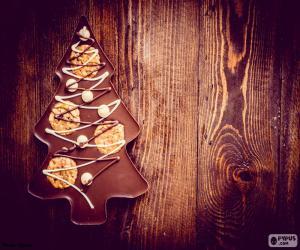 puzzel Chocolade christmas tree