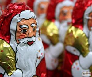 puzzel Chocolade Kerstman