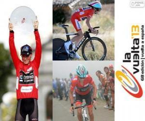 puzzel Chris Horner kampioen in de ronde van Spanje 2013