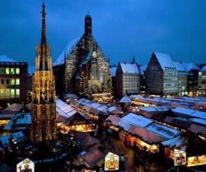 puzzel Christkindl Markt Neurenberg Beieren Duitsland