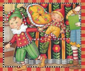 puzzel Christmas Elves