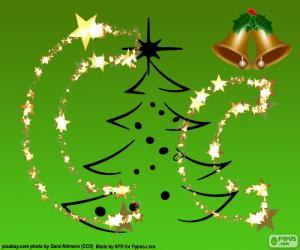 puzzel Christmas letter C