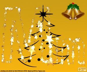 puzzel Christmas letter M