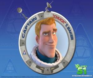 puzzel Chuck kind van gedroomd om een astronaut, is hij moedig, knap en zeker van zichzelf
