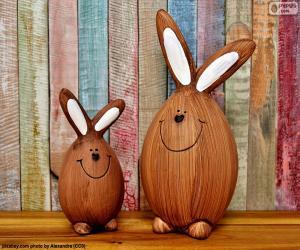puzzel Cijfers van Pasen konijnen