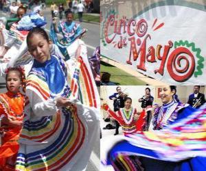 puzzel  Cinco de Mayo wordt gevierd op 5 mei in Mexico en de Verenigde Staten ter herinnering aan de 1862 Slag bij Puebla