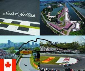 puzzel Circuit Gilles Villeneuve - Canada -