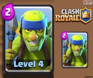 puzzel Clash Royale Goblins Spearmen
