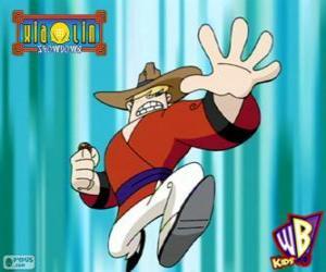 puzzel Clay Bailey, de draak Xiaolin van aarde, een cowboy uit Texas