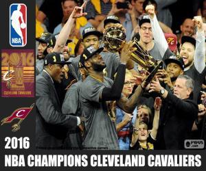 puzzel Cleveland Cavaliers, kampioen van de NBA 2016