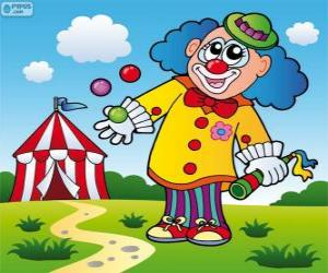 puzzel Clown jongleur