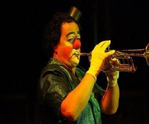 puzzel Clown trompet spelen