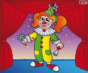 puzzel Clown vrouw