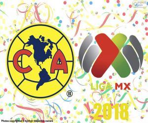 puzzel Club America, kampioen van Apertura 2018