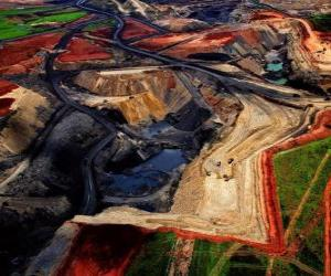 puzzel Coal Mine in Zuid-Afrika