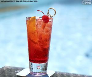 puzzel Cocktail bij het zwembad
