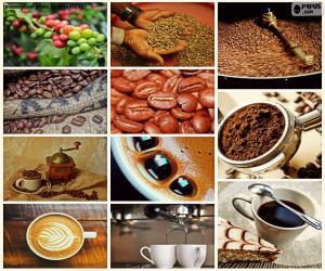 puzzel Collage van koffie