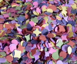 puzzel Confetti van kleuren