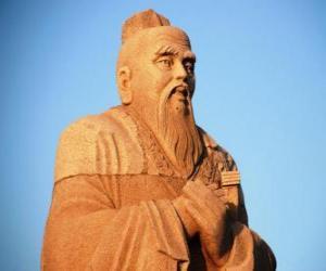 puzzel Confucius, Chinees filosoof, grondlegger van het confucianisme