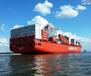 puzzel Containerschip