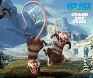 puzzel Crash en Eddie, twee opossums problematisch